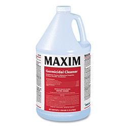 Maxim Germicidal Cleaner, Lemon Scent, 1 gal Bottle, 4/Carton
