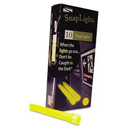 Miller's Creek Snaplights, 6 inl x 3/4 inw, Yellow, 10/Box