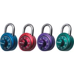 Master Lock Company Numeric Combination Locks, Steel Shackle, Assorted