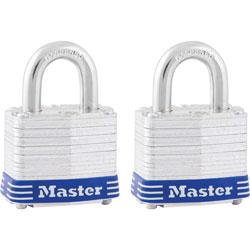 Master Lock Company 2 Match Hi Security Padlocks, Keyed Alike, Cylinder Protection