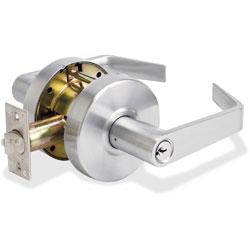 Master Lock Company Storeroom Lever w/Bump Stop, Heavy Duty, Chrome