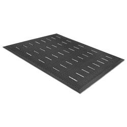 Millennium Mat Company Free Flow Comfort Utility Floor Mat, 36 x 48, Black