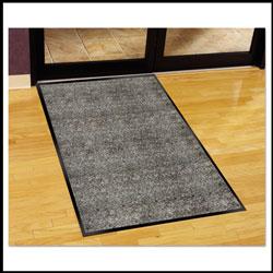 Millennium Mat Company Silver Series Indoor Walk-Off Mat, Polypropylene, 36 x 60, Pepper/Salt