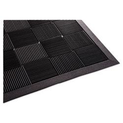 Guardian Parquet Wiper Scraper Mat, 36 x 60, Black