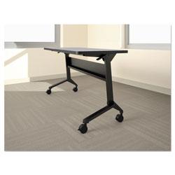 Safco Flip-n-Go Table Base, 70 1/2w x 21 1/4d x 27 7/8h, Black