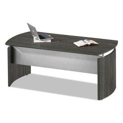 Safco Medina Series Laminate Curved Desk Top, 72w x 36d x 29.5h, Gray Steel