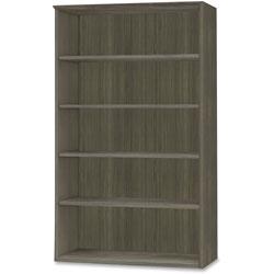 Safco Medina Series Laminate Five-Shelf Bookcase, 36w x 13d x 68h, Gray Steel