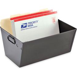 MMF Industries Posting Tub, Portable, Legal Size, Steel, Black