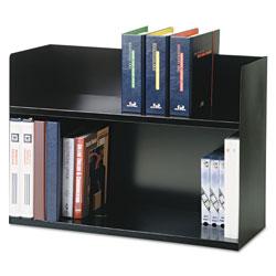 MMF Industries Two-Tier Book Rack, Steel, 29 1/8 x 10 5/16 x 20, Black