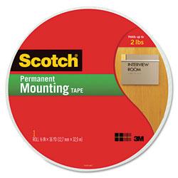 Scotch™ Foam Mounting Tape, 3/4 in Wide x 1368 in Long