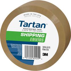3M Box Sealing Tape, poly film, flexible, stretch resistant, 48mm x 50m, tan