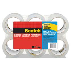 Scotch™ 3850 Heavy-Duty Packaging Tape, 3 in Core, 1.88 in x 54.6 yds, Clear, 6/Pack