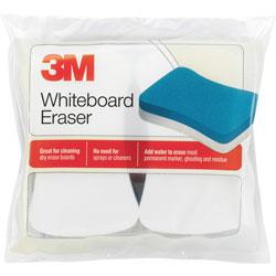 3M Whiteboard Eraser Pads, 5 inx3 in, 2/PK, Blue/White