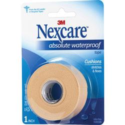 Nexcare Absolute Waterproof First Aid Tape, Foam, 1 in x 180 in