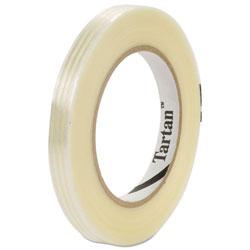 Tartan™ Filament Tape, 12 mm x 55 m, 3 in Core, Clear, 72/Carton