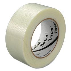 Tartan™ Filament Tape, 48 mm x 55 m, 3 in Core, Clear, 24/Carton