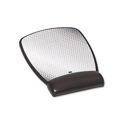 3M Precise Leatherette Mouse Pad w/Standard Wrist Rest, 6-3/4 x 8-3/5, Black