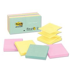 Post-it® Original Pop-up Refill, 3 x 3, Assorted Marseille Colors, 100-Sheet, 12/Pack