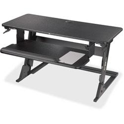 3M Precision Standing Desk, 23-1/5 in x 6-1/5 in x 35-2/5 in, Black