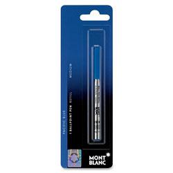 Montblanc Ballpoint Pen Refills, Medium Point, Blue Ink