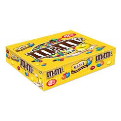 M & M's Chocolate Candies, Peanut, Individually Wrapped, 1.74 oz, 48/Box