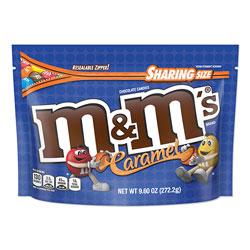 M & M's Chocolate Candies, Caramel, 9.6 oz Resealable Bag