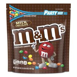 M & M's Milk Chocolate Candies, Milk Chocolate, 38 oz Bag