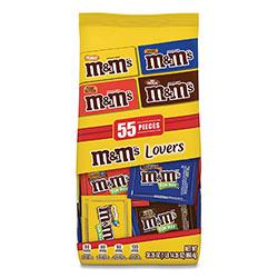 M & M's Fun Size Variety Mix, Caramel, Milk Chocolate, Peanut, Peanut Butter Flavors, 30.35 oz Bag, 55 Packs/Bag