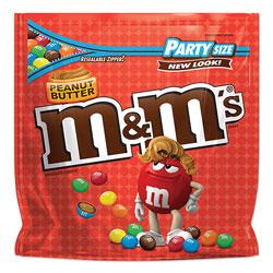 M & M's Chocolate Candies, Peanut Butter, 38 oz Resealable Bag
