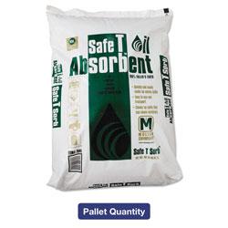 Safe T Sorb All-Purpose Clay Absorbent, 40lb, Poly-Bag, 50/Carton