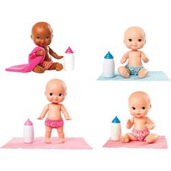Mattel Baby Dolls, miniature, 2-1/2 inWx2-3/4 inLx6-3/4 inH, 8/CT