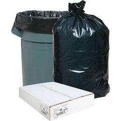 Nature Saver Recycled Black Trash Bags, 33 Gallon, Box of 100