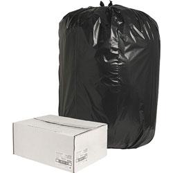 Nature Saver Recycled Black Trash Bags, 60 Gallon, Box of 100