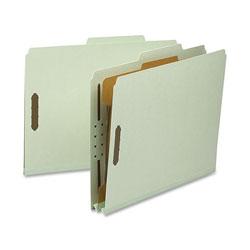 Nature Saver Classification Folder, Letter, Recycled, 1-Div, 10/BX, GYGN