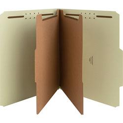 Nature Saver Classification Folder, Letter, Recycled, 2-Div, 10/BX, GYGN