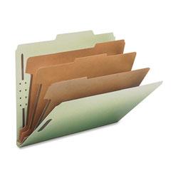 Nature Saver Classification Folder, Letter, Recycled, 3-DIV, 10/BX, GYGN