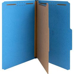 Nature Saver Top-Tab 1-Divider Classification Folder, Dark Blue