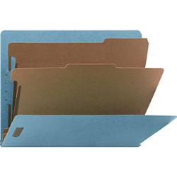 Nature Saver Classification Folder, End Tab, Letter, 2-Div, 10/BX, Blue