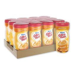 Coffee-Mate® Non-Dairy Powdered Creamer, Hazelnut, 15 oz Canister, 12/Carton