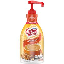 Coffee-Mate® Liquid Coffee Creamer, Hazelnut, 1.5 Liter Pump Bottle, 2/Carton