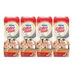 Coffee-Mate® Liquid Coffee Creamer, Original, 0.38 oz Mini Cups, 50/Box, 4 Boxes/Carton, 200 Total/Carton