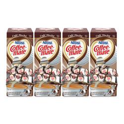 Coffee-Mate® Liquid Coffee Creamer, Cafe Mocha, 0.38 oz Mini Cups, 50/Box, 4 Boxes/Carton, 200 Total/Carton