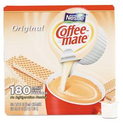 Coffee-Mate® Liquid Coffee Creamer, Original, 0.38 oz Mini Cups, 180/Carton