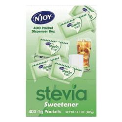 N'Joy Stevia Artificial Sweetener, 0.4 oz. 400 Packets/Box