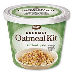 N'Joy Gourmet Oatmeal Kit, Orchard Spice, 2.55 oz Cup, 8/Carton