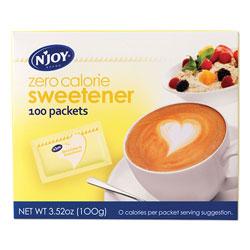 N'Joy Yellow Sucralose Zero Calorie Sweetener Packets, 1 g Packet, 100 Packets/Box