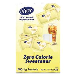 N'Joy Yellow Sucralose Zero Calorie Sweetener Packets, 0.04 oz Packet, 400 Packets/Box