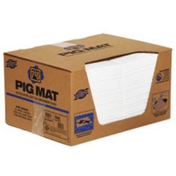 PIG® Water-Repellent, Oil-Absorbent, Medium-Weight Mat Pad - 15 in x 20 in