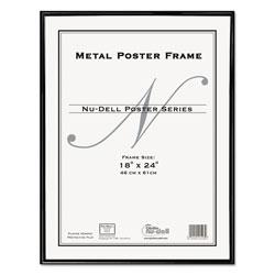 Nudell Plastics Metal Poster Frame, Plastic Face, 18 x 24, Black