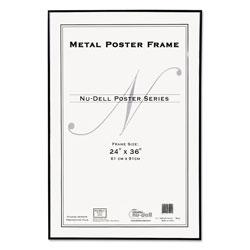 Nudell Plastics Metal Poster Frame, Plastic Face, 24 x 36, Black